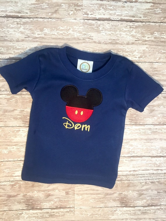 Personalized Mickey Mouse Shirt Toddler Mickey Shirt Mickey