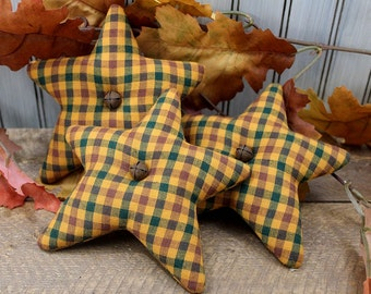 Stars Bowl Fillers 3-Set Homespun Autumn Harvest Country Primitive
