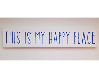this is my happy place handmade painted sign