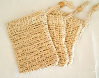 SISAL SOAP BAG Natural soap saver, soap pouch