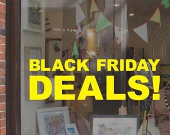 Black Friday Deals Shop Window Display Sticker H710K