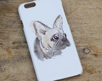 French Bulldog Frenchie Sketch Phone Case / Cover iPhone 6 6s 6+ Plus 5 5s 5c