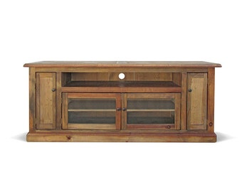 Media Console, TV Stand, Entertainment Console, Reclaimed Wood, Console Cabinet, Handmade
