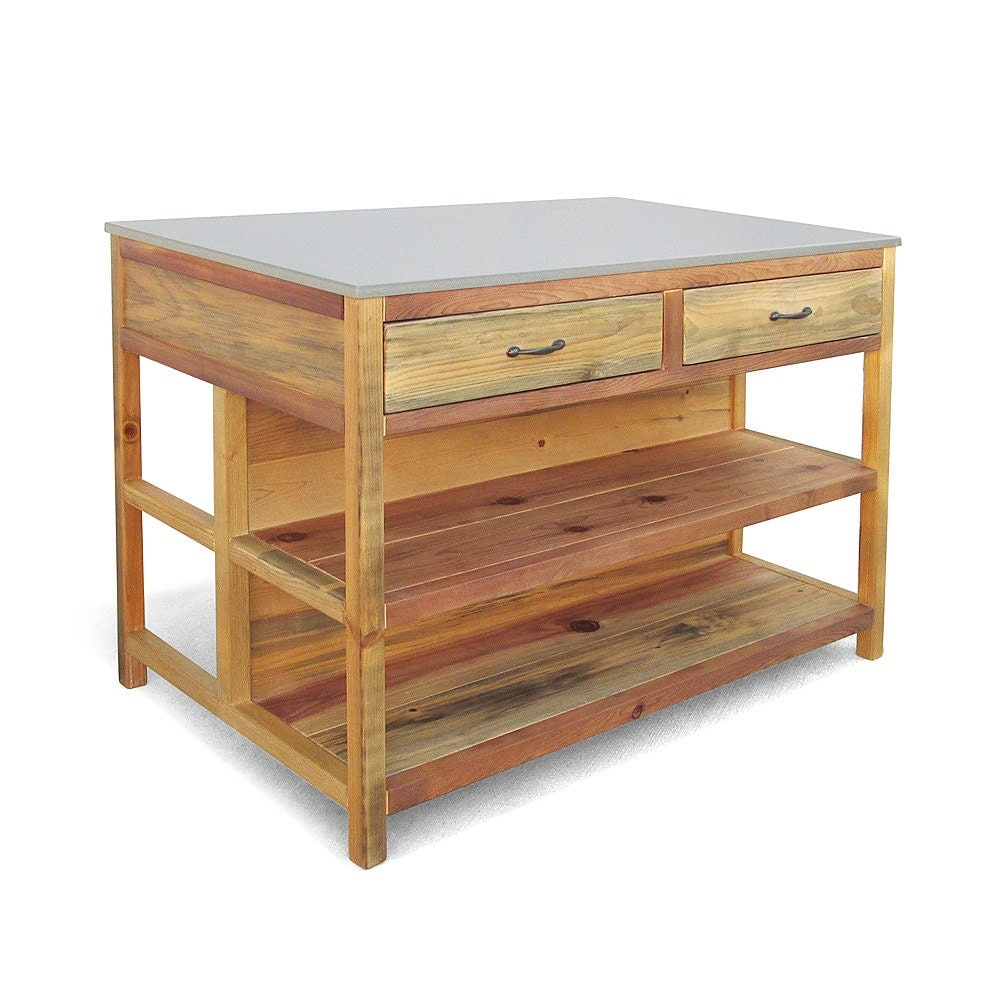 Kitchen Island Table Reclaimed Wood Counter Table Kitchen