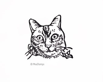 Personalized stamp / stamp cat / pet stamps