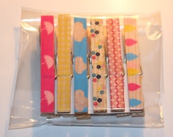PaperPollys Handmade Peg Magnets ~ 6 Pack!