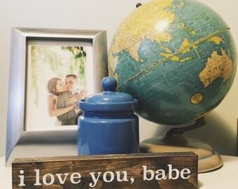 I Love You Sign - Love Sign - Mini Sign -