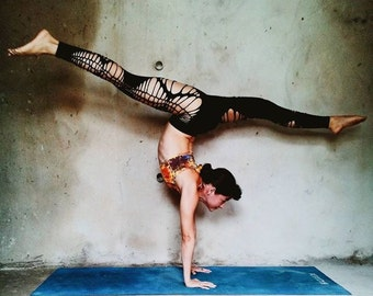 Yoga Leggings,Sexy Braided Leggings,Braided Leggings,Leggings,Dance wear,club wear, rave wear, gift for her,yogi clothes, rave pants, yoga