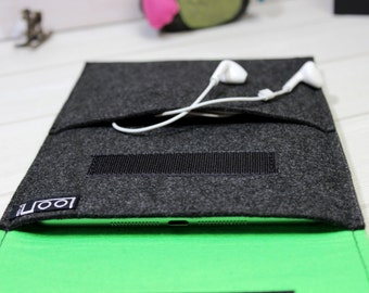 iPad Air Case, iPad Sleeve, iPad 2, iPad 3, iPad 4, Tablet Sleeve, Felt Sleeve iPad, iPad Air Sleeve, grey ebook case, Tablet Felt Case