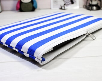 iPad Pro case, Galaxy Tab A case, iPad Air sleeve, blue stripe, tablet case, nautical, tablet sleeve, iPad Air 2 case, iPad sleeve, gift