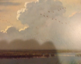 Returning Geese painted by Jim Harrison