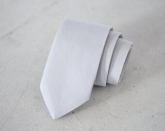 Dove Grey Skinny Tie