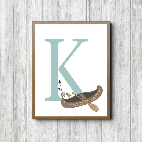 Wall Decor Letter K : Boys room monogram wall art letter k by