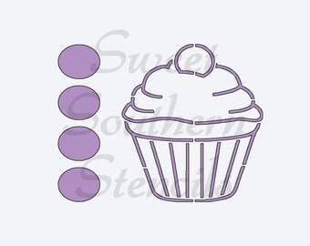 Cupcake PYO Cookie Stencil