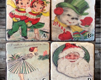 Vintage Christmas (Pick One) Tile