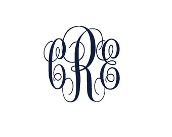 personalized monogram iron on decal custom iron on letters iron on vinyl monogram iron on monogram initials