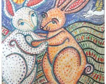 Ada & Emery Rabbit Ceramic Tile