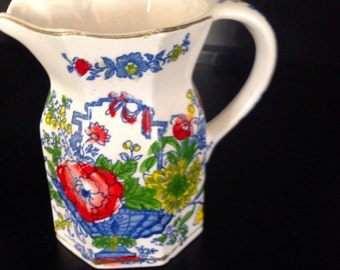 Floral Pottery Cream Pitcher
