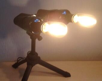 Up-cycled Binocular Lamp
