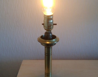 Up-cycled Brass Candlestick Lamp