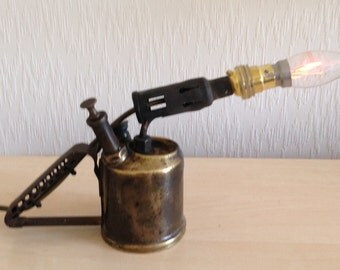 Up-cycled Blow Torch Lamp