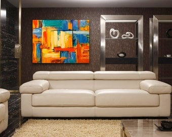 SQUARED Abstract Oil Painting on Canvas