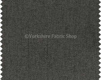 Durable Soft Quality Herringbone Chenille Upholstery Fabric Grey Colour For Interior Furnishing Furniture Curtain Sofa - Sold By The Metre