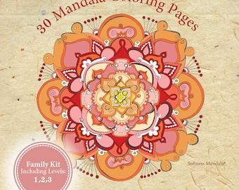 Mandala coloring book//30 Mandalas/adult coloring book/coloring pages/coloring/adult coloring books/adult coloring pages/colouring pages/
