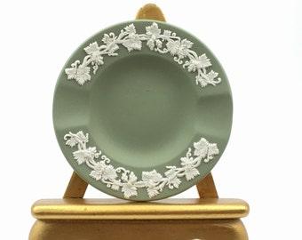 Wedgewood, Vintage Wedgwood, Green Jasperware, Vintage Trinket Dish, Vintage Jasperware, Vintage Ashtray