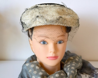 Vintage 50's woman hat, hat, fascinator