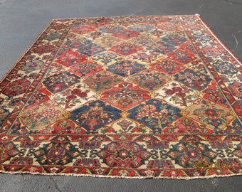 Breathtaking Antique Persian Bakhtyari  Oriental Rug.