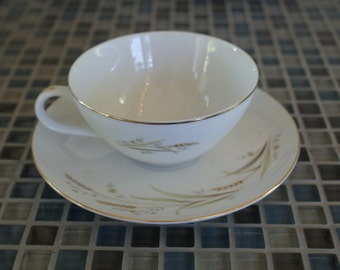 Fine China of Japan Golden Harvest Gravy Flat cup and Saucer