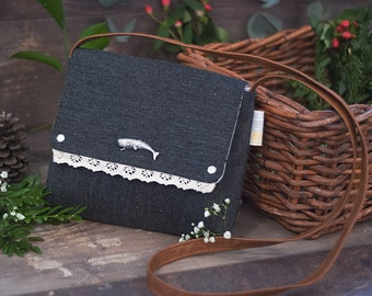 Handbag with a whale, ANY_animal
