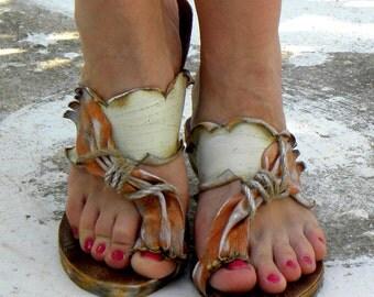 "Sandals ""Santorini3"" (handmade to order)"
