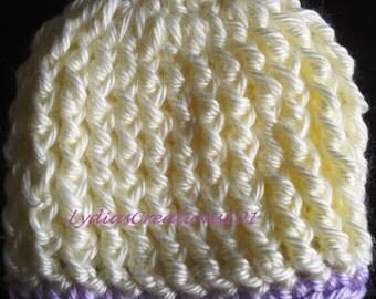 Preemie crochet hat,Micro Preemie crochet hat,Newborn crochet hat,cream preemie beanie,nicu infant hat,gift,Crochet infant beanie,