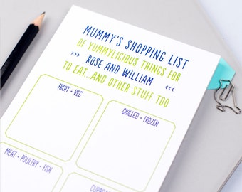 Shopping List - Shopping Pad  - Grocery List - List Note Pad - To Get Pad - Grocery Shopping Notepad - personalised
