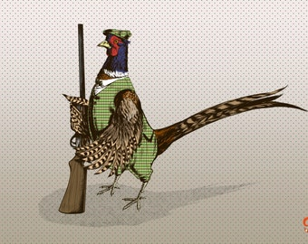 Pheasant Hunter Print