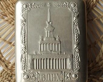 Antique Silver 84 Cigarette case Snuffbox Vintage Old Original 84.3 g ж