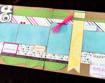Summer Scrapbook Page, 12x12 Premade Scrapbook Page, Scrapbook Premade Page, 12x12 Scrapbook Layout, Baby Girl Scrapbook Page, Summer Page
