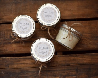 12 - 4oz custom soy candles - baby shower candles - bridesmaids candles - wedding favors