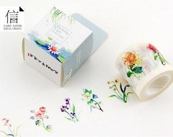 washi tape set/ masking tape set (flower season) 40mmx10m WT0169