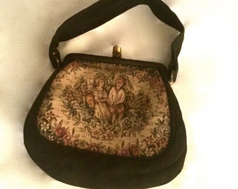 Vintage 30's Needlepoint Hand Bag        VG2374