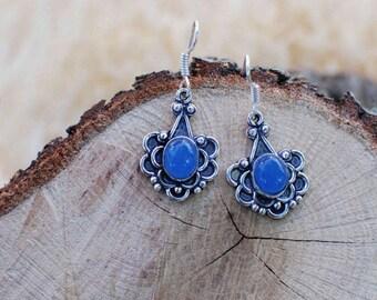 Misty Blue Vintage Earrings