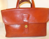 Coach Vintage Bonnie Cashin Rust Leather Double-Sided Briefcase/Tote  -  (NYC) Refurbished