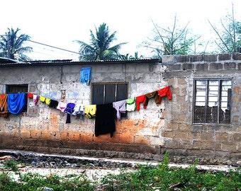 Photography, Color, Home Decor, Zanzibar village, printing Photo, village design, art, African decor, wall art, African Home Decor