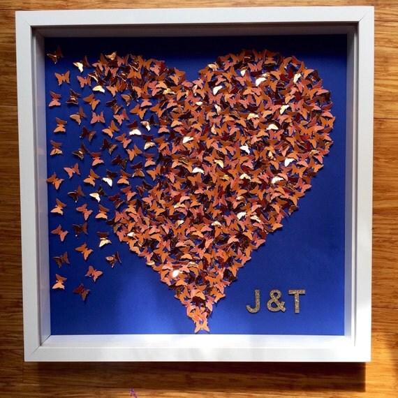 Gold heart wall decor : D butterflies heart wall art decor rose gold