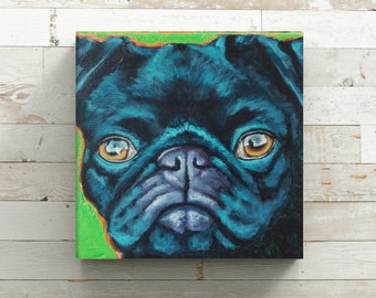 Custom pet portraits - Small Custom Pet Painting - Colorful Pet Portrait - Personalized Pet Portrait - Dog Painting - Pop Art Pet Portrait
