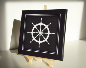Table stretched canvas Canvas painting steering wheel wheel - bar