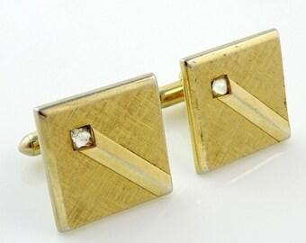 Vintage Swank Cufflinks Gold Tone Art Deco