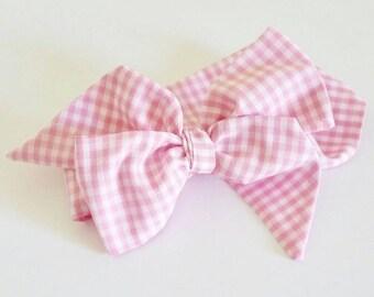 Head wrap {Pink Gingham}
